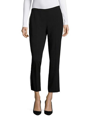 Ellen Tracy Tailored Tuxedo Pants-BLACK-2