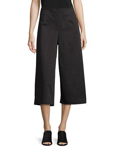 Ellen Tracy Petite Side Zip Culottes-BLACK-Petite 8