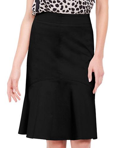 Ellen Tracy Flounce Hem Skirt-BLACK-10