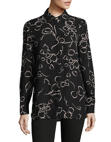 Ellen Tracy Boyfriend Shirt-BLOOMS-Medium