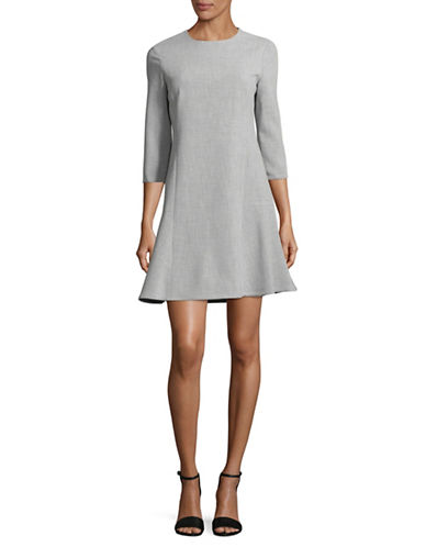 Ellen Tracy Twill A-Line Dress-SLATE HEAT-6