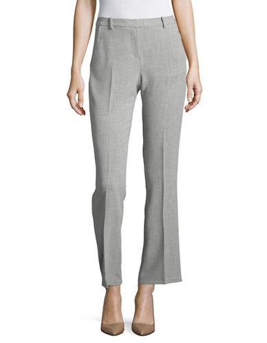Ellen Tracy Petite Signature Trousers-SLATE HEATHER-Petite 14
