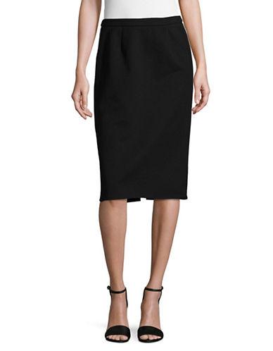 Ellen Tracy Petite Banded Pencil Skirt-BLACK-Petite 2