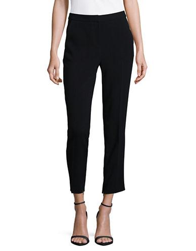 Ellen Tracy Petite Zip Ankle Slim Trousers-BLACK-Petite 16
