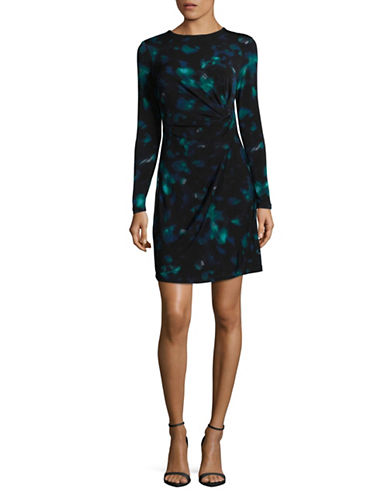 Ellen Tracy Petite Twisted Waist Mini Dress-AURORA-Petite X-Large