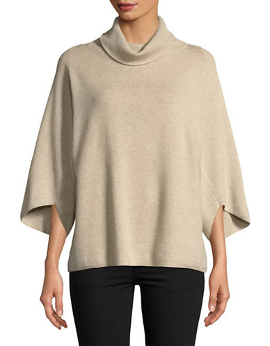 Ellen Tracy Envelope-Sleeve Sweater-BEIGE-Large