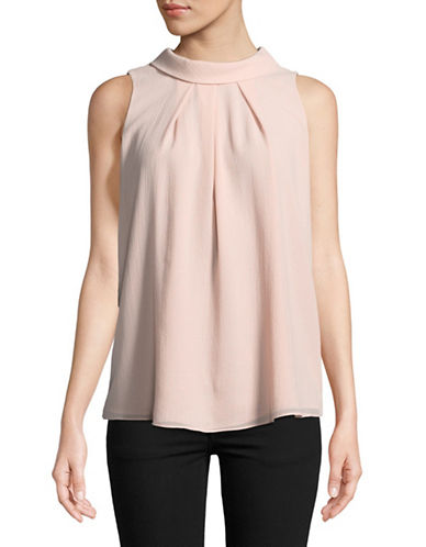 Ellen Tracy Cowl Neck Top-PINK-X-Large