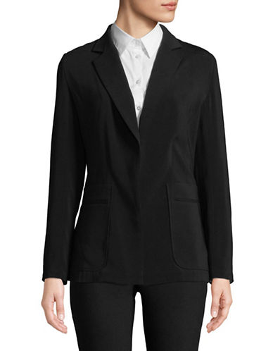 Ellen Tracy Patch Pocket Blazer-BLACK-10