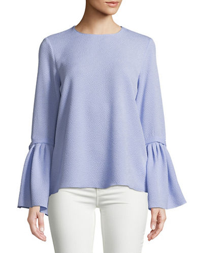 Ellen Tracy Trench-Sleeve Blouse-BLUE-Large