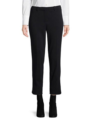 Ellen Tracy Petite Zippered Ankle Pant-NAVY-Petite X-Large