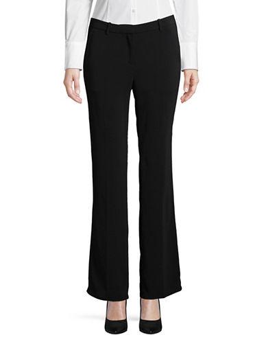 Ellen Tracy Petite Signature Flared Trousers-BLACK-Petite 12