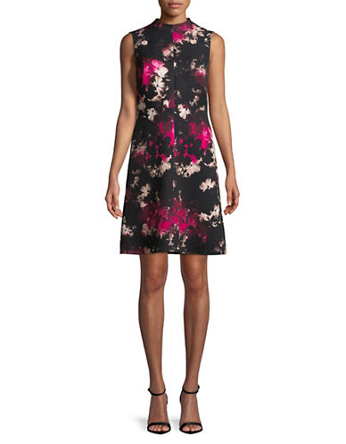 Ellen Tracy Printed A-Line Dress-ASSORTED-4