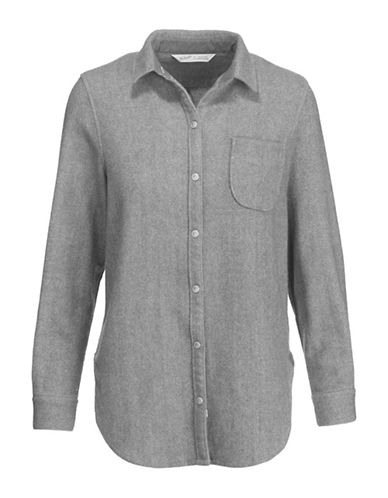 Woolrich Wool Dress Shirt-GREY-X-Small