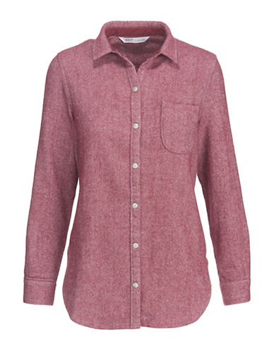 Woolrich Wool Dress Shirt-RED-Small