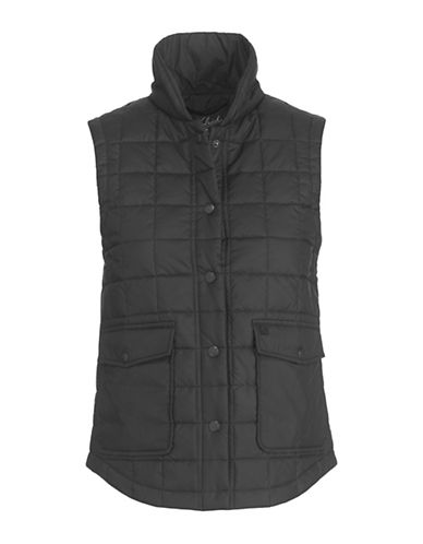 Woolrich Quilted Packable Vest-BLACK-Small