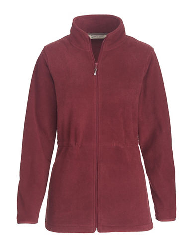 Woolrich Zip-Front Fleece Jacket-RED-Small