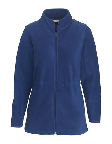 Woolrich Zip-Front Fleece Jacket-BLUE-Small 89572128_BLUE_Small