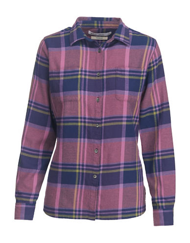 Woolrich Cotton Flannel Dress Shirt-PURPLE-Medium