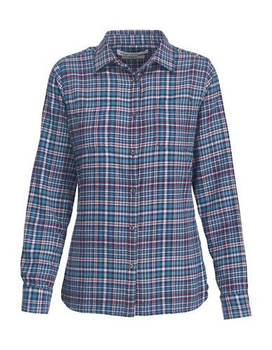 Woolrich Cotton Flannel Dress Shirt-BLUE-Large
