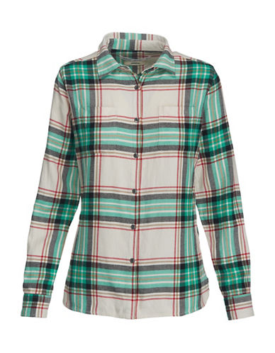 Woolrich Cotton Flannel Dress Shirt-RED-Medium