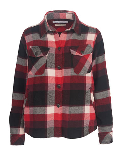 Woolrich Flannel Cotton Shirt Jacket-BLACK-X-Large
