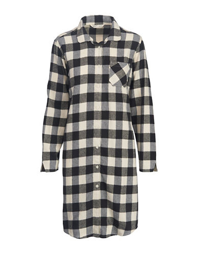 Woolrich Cotton Flannel Night Shirt-IVORY-Medium