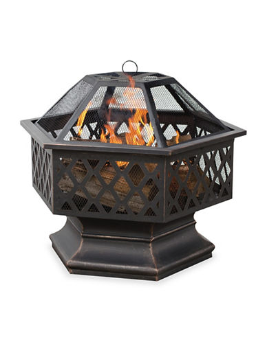 Blue Rhino Oil Rubbed Bronze Firebowl and Lattice-BLACK-One Size