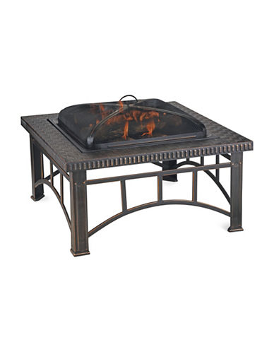 Blue Rhino Rectangular Wood Burning Firebowl-BLACK-One Size