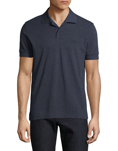 Boss Green Pique Polo-NAVY-Small
