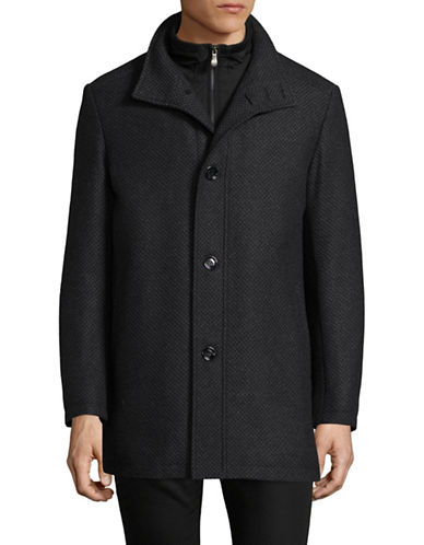 Boss Green C-Coxtan Wool-Blend Stand Collar Coat-GREY-36
