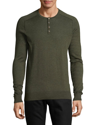Boss Orange Kronastle Henley Top-GREEN-X-Large