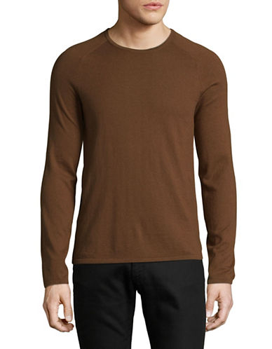 Hugo San Francisco Thin Knit Sweater-BROWN-Large