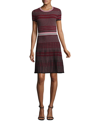 Hugo Short-Sleeves Woven A-Line Dress-MULTI-Large