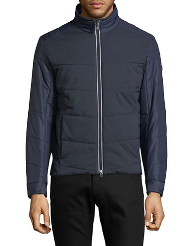 Boss Green Jhero Quilted Jacket-NAVY BLUE-36