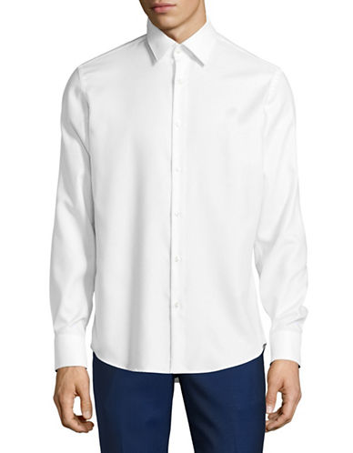 Hugo C-Enzo Regular-Fit Sport Shirt-WHITE-EU 42/US 16.5