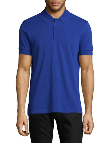 Boss Green Pique Polo-MEDIUM BLUE-X-Large