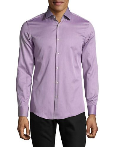Hugo C-Jenno Textured Solid Shirt-PINK-EU 41/US 16