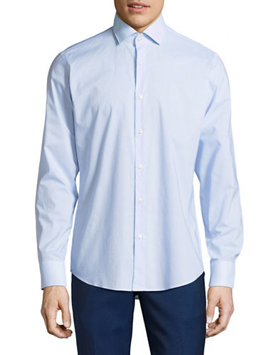 Hugo C-Gordon Printed Sport Shirt-BLUE-EU 42/US 16.5