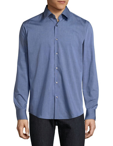 Hugo C-Enzo Striped Shirt-BLUE-EU 46/US 18
