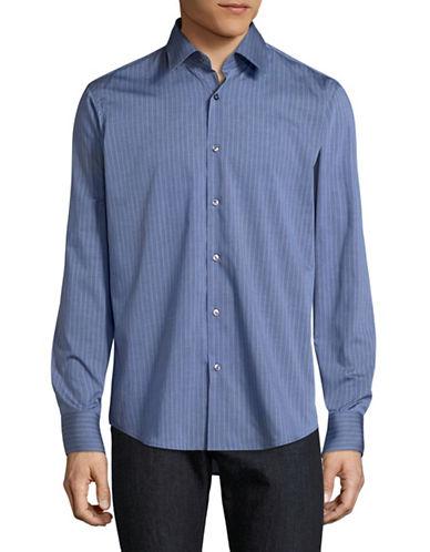 Hugo C-Enzo Striped Shirt-BLUE-EU 43/US 17