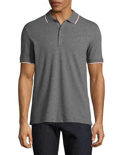 Hugo Dasto Slim-Fit Mirror Logo Polo-GREY-Medium