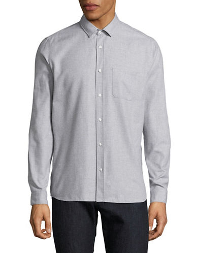 Hugo Emingway Textured Shirt-GREY-X-Large
