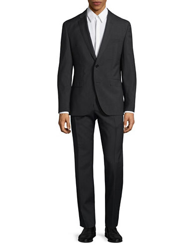 Hugo Tonal Virgin Wool Suit-GREY-42 Tall