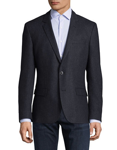 Hugo C-Hutsons Wool-Blend Single-Breasted Suit Jacket-BLUE-42