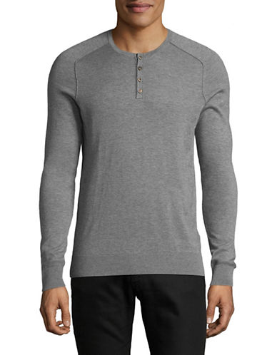 Boss Orange Kronastle Henley Top-LIGHT GREY-X-Large