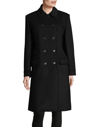 Hugo Moliko-1 Boiled Wool Coat-BLACK-EUR 40/US 8