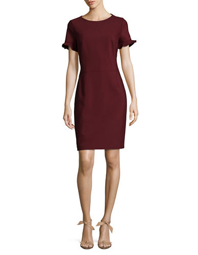 Hugo Kamire Round neck Dress-RED-EUR 46/US 14
