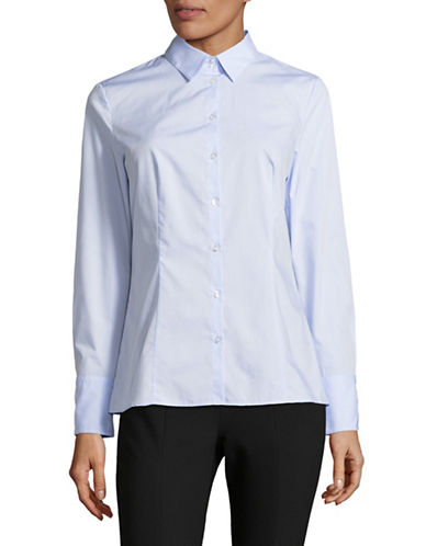 Hugo Striped Button-Up Shirt-BLUE-EUR 40/US 8