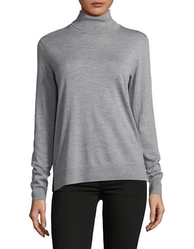 Hugo Turtleneck Wool Sweater-GREY-X-Large