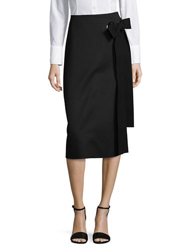 Hugo Rinba Knee-Length Skirt-BLACK-EUR 40/US 8